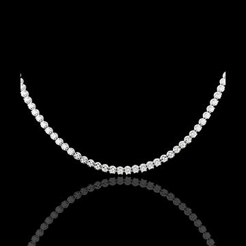 Collana Notte Sotto le stelle - Oro bianco - 18 carati - 50 Diamanti - 1.5 carati
