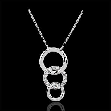 Collana Gala - Oro bianco - 18 carati - 13 Diamanti