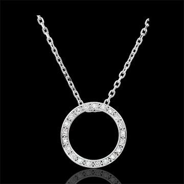 Collana Elisée - Oro bianco - 9 carati -21 diamanti