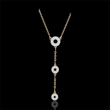 Collana Tala - Oro giallo - 9 carati - 16 Diamanti