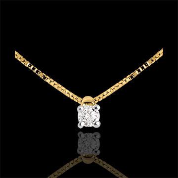 Collana Punto luce Oro giallo - Diamante 0.07 carati - 45 cm.