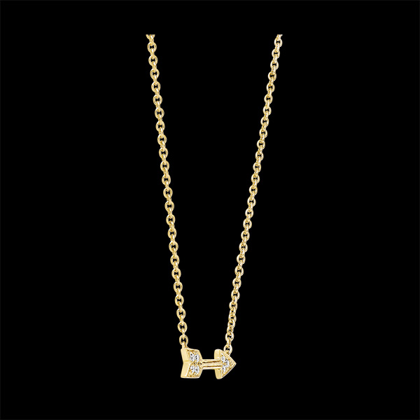 Collana Freschezza - Cupido - oro giallo 9 carati e diamanti