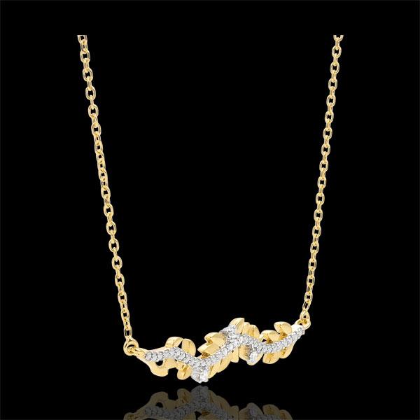 Collana Giardino Incantato - Fogliame Reale - Oro giallo - 18 carati - Diamanti