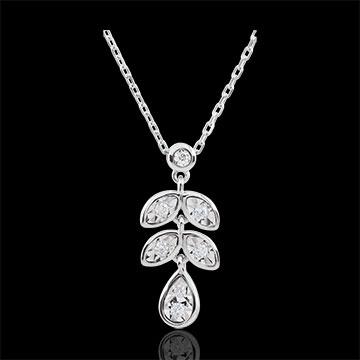 Collana Hesmé - Oro bianco - 9 carati - 7 Diamanti