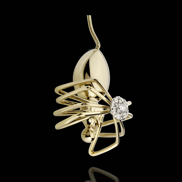 Collana Passeggiata Immaginaria - Regina Ragno - Oro giallo- 18 carati - Diamanti - 0.25 carati
