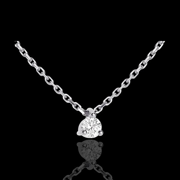 Collana Punto luce - Oro bianco - 18 carati - Diamante - 0.11 carati