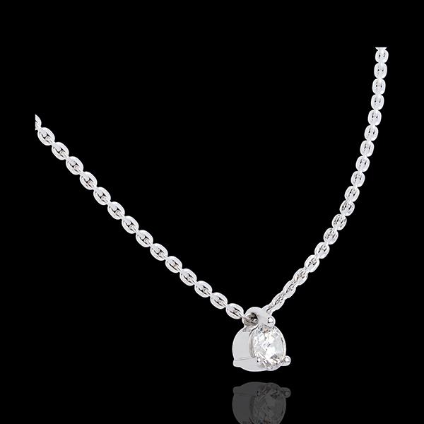 Collana Punto luce - Oro bianco - 18 carati - Diamante - 0.31 carati