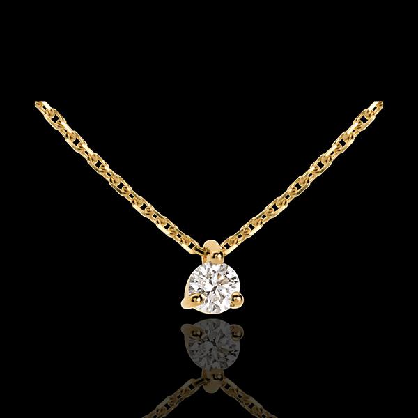 Collana Punto luce - Oro giallo - 18 carati - Diamante - 0.16 carati