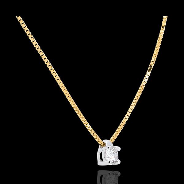 Collana Punto luce Oro giallo - Diamante 0.21 carati - 45 cm.