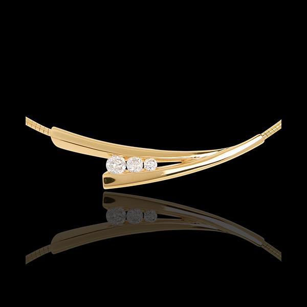 Collana Trilogy Spighe - Oro giallo - 18 carati - 3 Diamanti - 0.21 carati