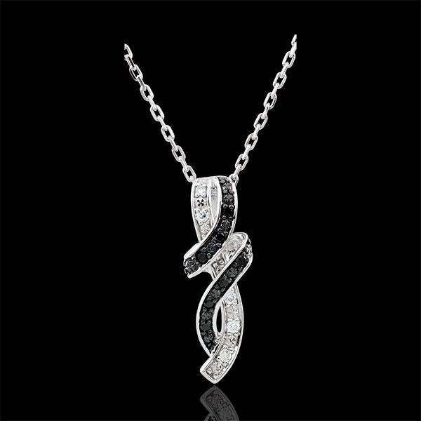 Collar Claroscuro - Rendez- vous - oro blanco 9 quilates - diamante negro