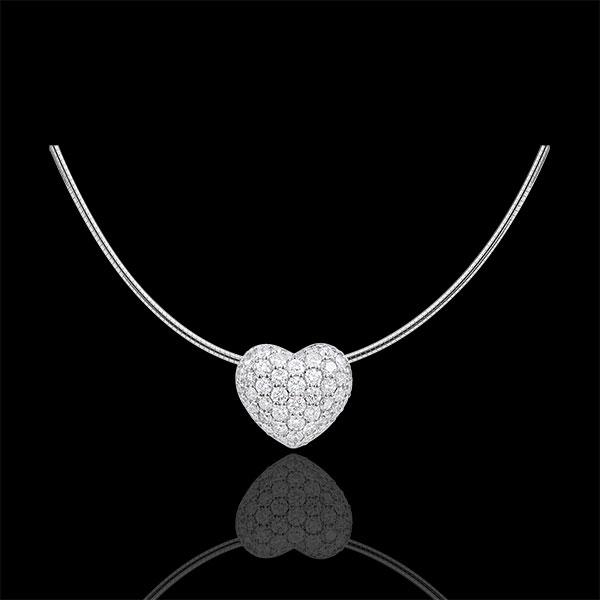 Collar corazon Monica - oro blanco 18 quilates