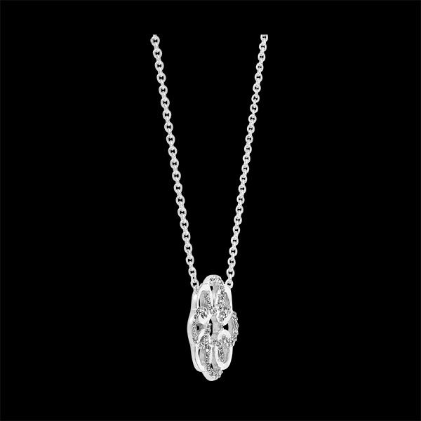 Collar Destino - Arabesco - oro blanco de 9 quilates y diamantes