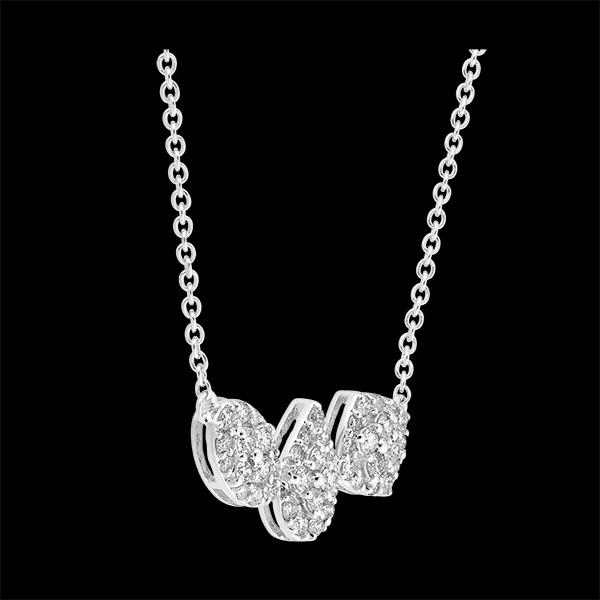 Collar Destino - Cléo - oro blanco de 9 quilates y diamantes