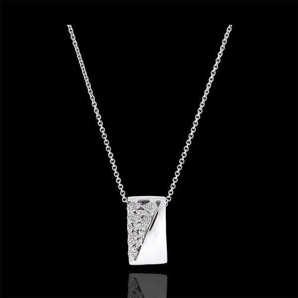 Collar Destino - Constancia - oro blanco de 9 quilates y diamantes