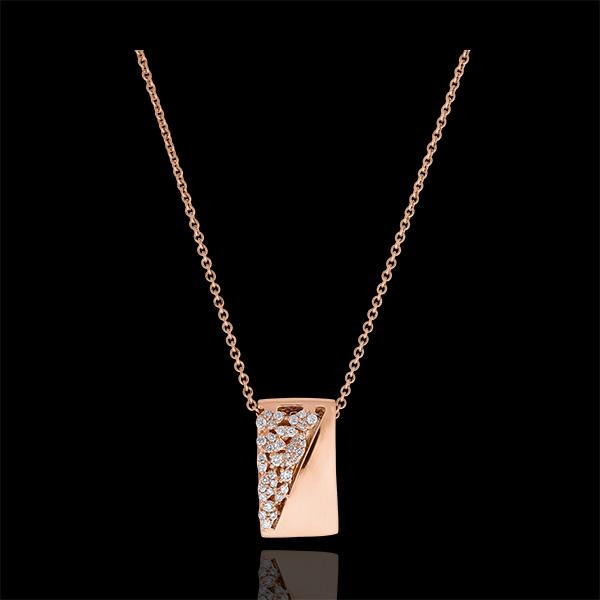 Collar Destino - Constancia - oro rosa de 9 quilates y diamantes