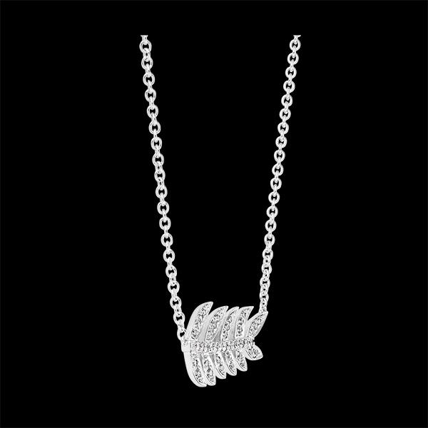 Collar Destino - Laureles de Gloria - oro blanco de 9 quilates y diamantes