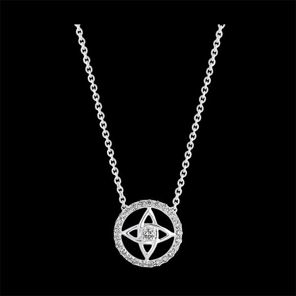 Collar Destino - Théa - oro blanco de 9 quilates y diamantes