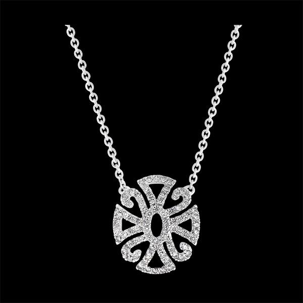 Collar Destino - Variación Arabesca - oro blanco de 9 quilates y diamantes