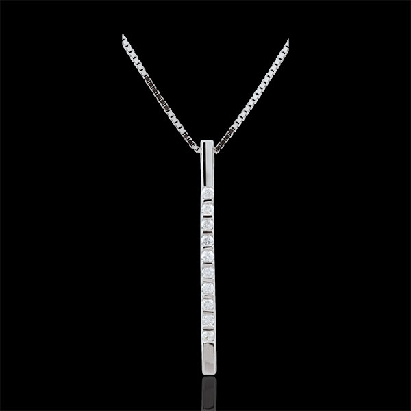Collar Diata - oro blanco 9 quila y diamantes