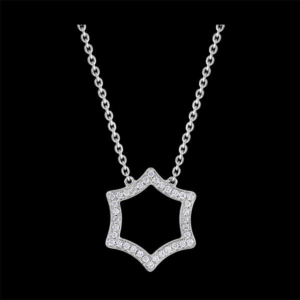 Collar Frescura - Lux - oro blanco de 18 quilates y diamantes