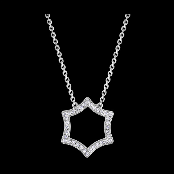 Collar Frescura - Lux - oro blanco de 9 quilates y diamantes