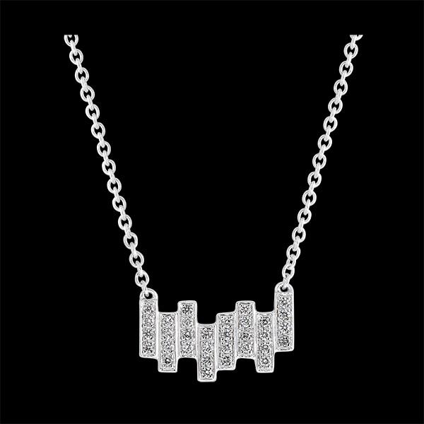 Collar Frescura - Mélodie - oro blanco de 9 quilates y diamantes