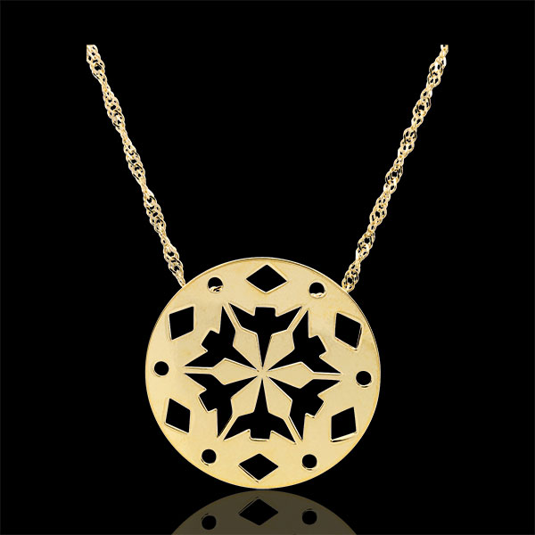 Collar Makwa - oro amarillo 9 quilates