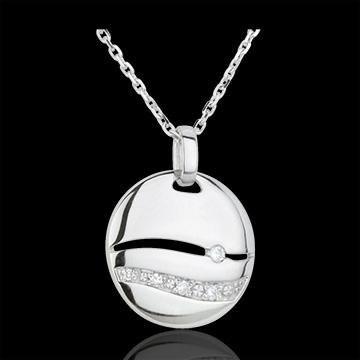 Collar Sunset - oro blanco 18 quilates y diamantes