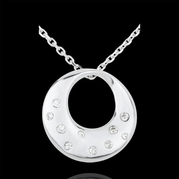Collar Oráculo - oro blanco 18 quilates y diamantes