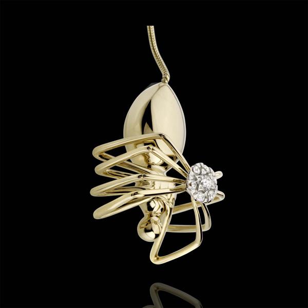 Collar Paseo Soñado - Araña Reina - oro amarillo 18 quilates y diamantes