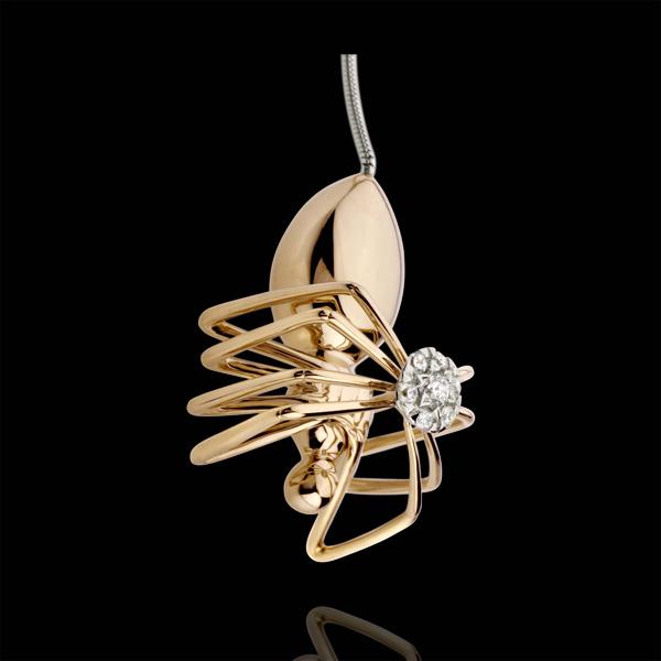 Collar Paseo Soñado - Araña Reina - oro rosa 18 quilates y diamantes