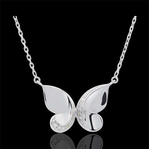 Collar Paseo Soñado - Mariposa Cascada - oro blanco 9 quilates