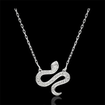 Collar Paseo Soñado - Serpiente Hechizante - oro blanco 9 quilates y diamantes