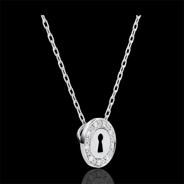 Collar Precioso Secreto - oro blanco y diamantes 9 quilates