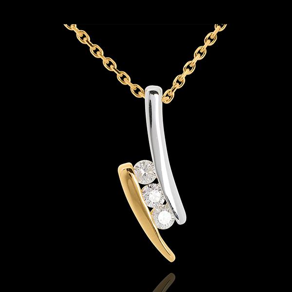 Collar Trilogía Nido Precioso - Cita - oro amarillo y blanco 18 quilates - 3 diamantes