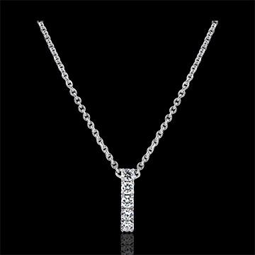 Collier Abbondanza - Cartuccia - oro bianco 9 carati e diamanti