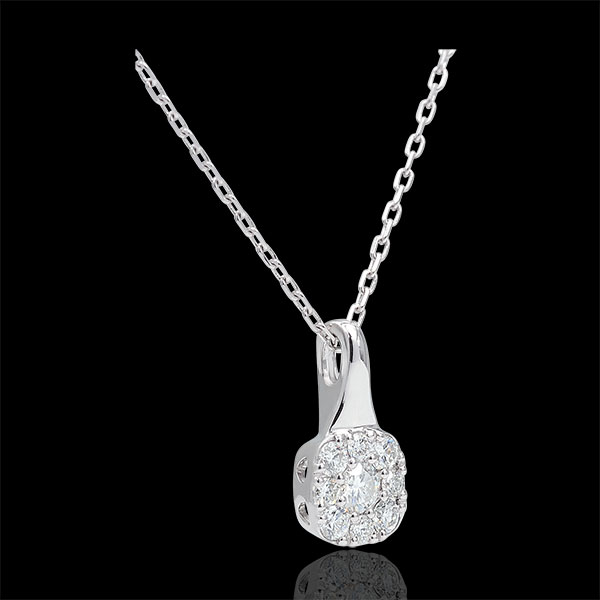 Collier Amadeus - 0.3 carat - or blanc 18 carats