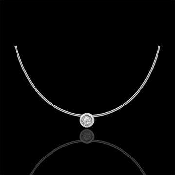 Collier cable or blanc 18 carats puce diamant (TGM)