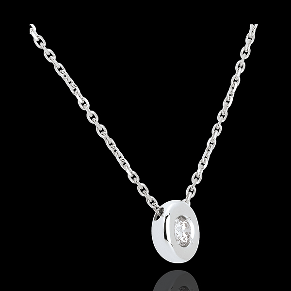 Collier Calice diamant (TGM) - or blanc 18 carats