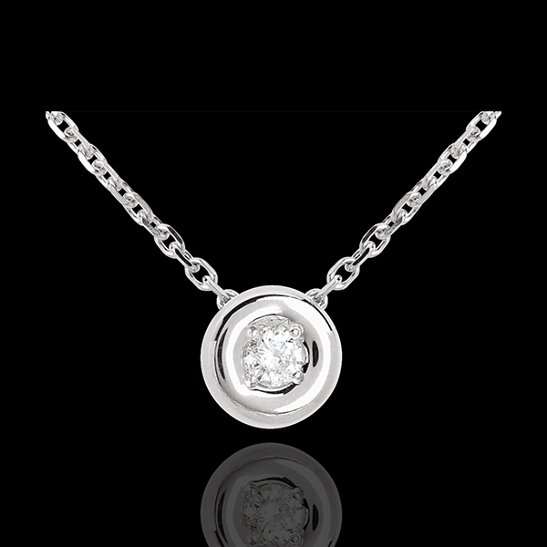 Collier Calice or blanc 18 carats
