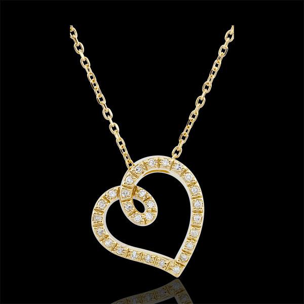 Collier Coeur Curva - or jaune 9 carats
