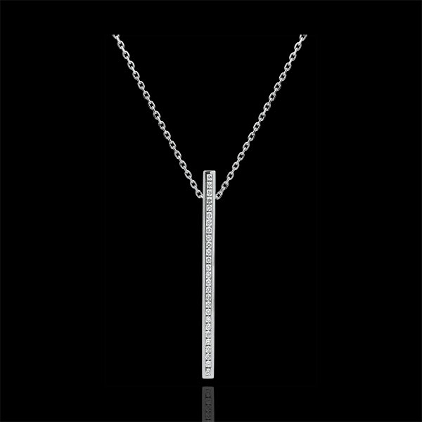 Collier Constellation - Astrale - or blanc 9 carats et diamants