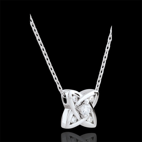 Collier Cosmia - 5 diamants - or blanc 9 carats