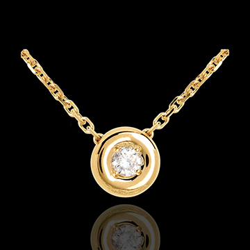 Gold Collier Kelch mit Diamanten