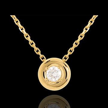 Diamant Collier Kelch in Gelbgold