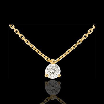 Collier Solitär in Gelbgold - 0.305 Karat