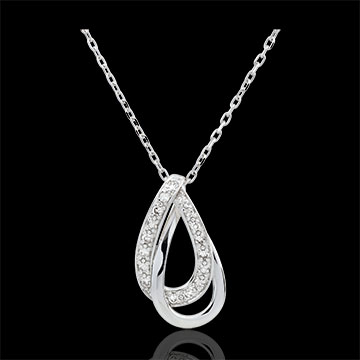 Collier Glamour - Weißgold, 17 Diamanten