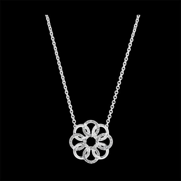 Collier Destinée - Arabesque - or blanc 9 carats et diamants