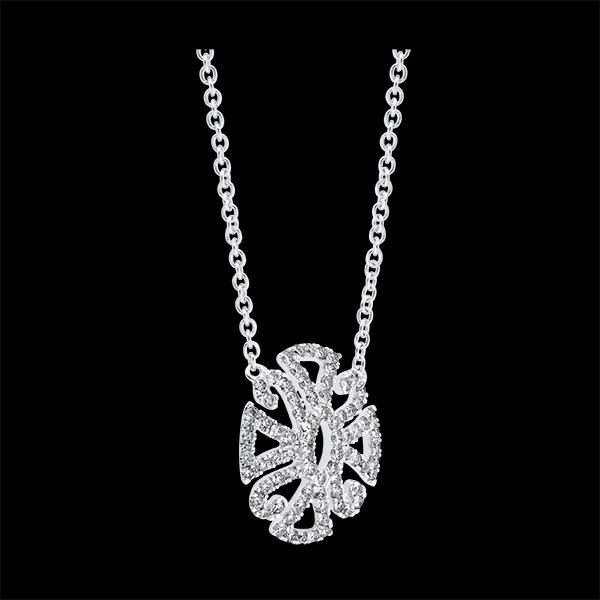 Collier Destinée - Arabesque Variation - or blanc 9 carats et diamants